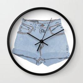 She Wears Short Shorts Wall Clock