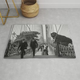 Old Time Godzilla vs. King Kong Rug