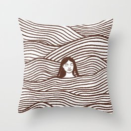 Going with the Flow Red Throw Pillow