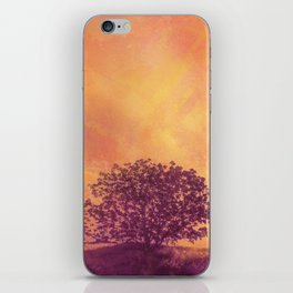 Red Violet Lone Tree and Fall Sunlight iPhone Skin