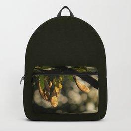 maple 04 - golden maple keys glint in the sun - golden hour Backpack