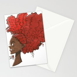 Big Red Hair Stationery Cards