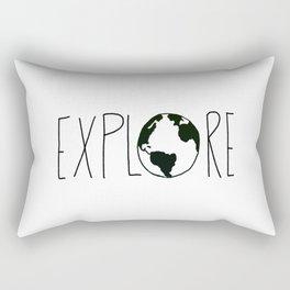 Explore the Globe x BW Rectangular Pillow