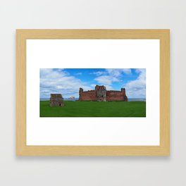 Tantallon Castle & Bass Rock (Scotland) Framed Art Print