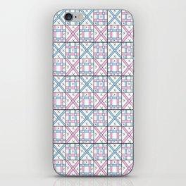 symetric tartan and gingham 26 -vichy, gingham,strip,square,geometric, sober,tartan iPhone Skin