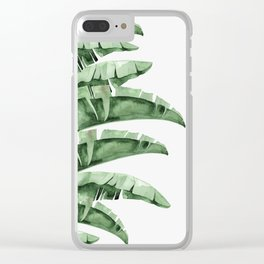 Banana Green Clear iPhone Case