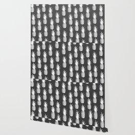 Pineapple Pattern - Dark Grey Wallpaper