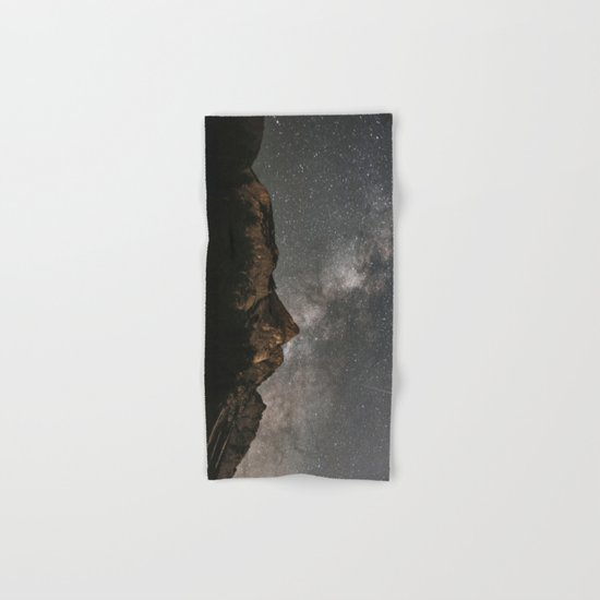 Milky Way Over Mountains - Landscape Photography Hand & Bath Towel