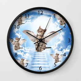 All Cats Go to Heaven Wall Clock