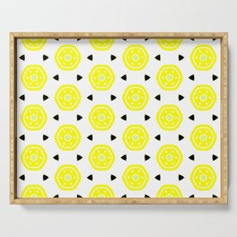 lemon slice geometrical pattern Serving Tray