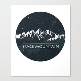 Space Mountain Gift Canvas Print