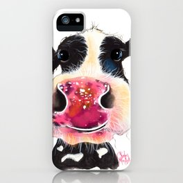 NoSeY CoW ' BuBBLeS ' BY SHiRLeY MacARTHuR iPhone Case