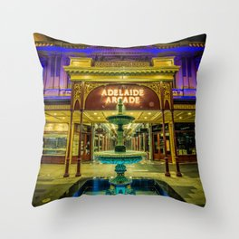 Adelaide Arcade Facade Throw Pillow