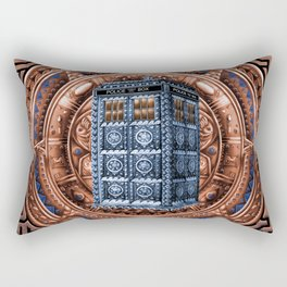 Aztec Tardis Doctor Who Full Color Pencils Sketch Rectangular Pillow