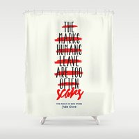 fault in our stars Shower Curtains featuring The Fault in Our Stars by thatfandomshop