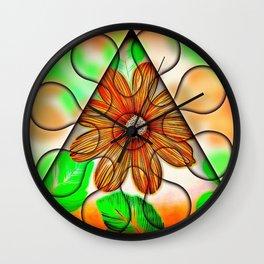 Trapped Daisy Wall Clock