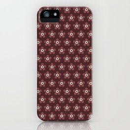 Flower Power surface pattern (red) iPhone Case