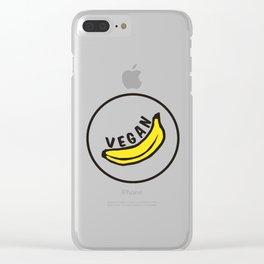 Vegan Badge of Honour - Banana ! Clear iPhone Case