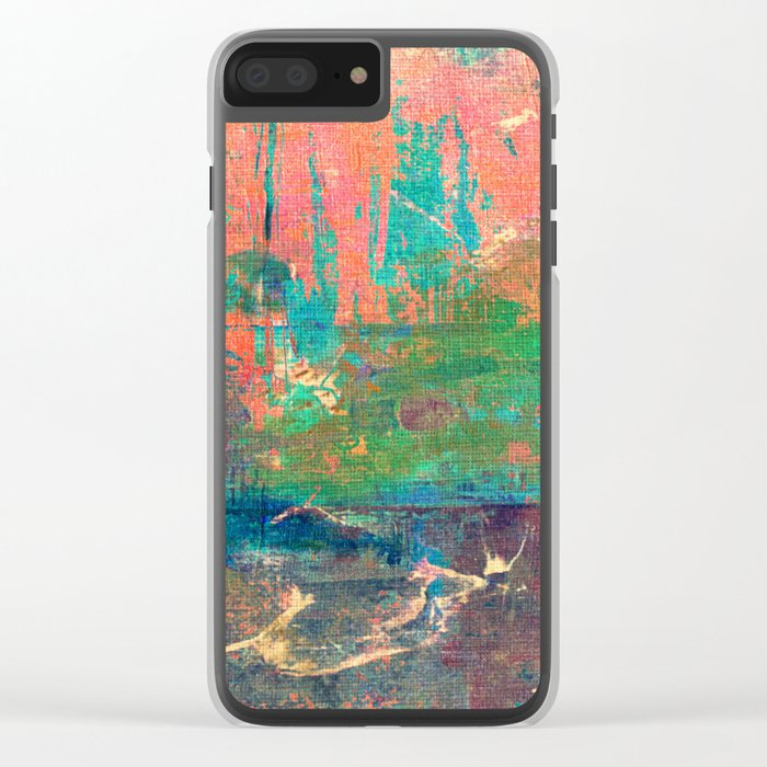 Lake Between Mountains Clear iPhone Case