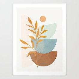 Soft Abstract Shapes 02 Art Print
