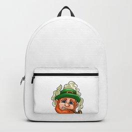 Leprechaun Face Smoking Pipe St Patricks Day Backpack