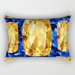 SEPTEMBER CHAMPAGNE TOPAZ GEM BIRTHSTONES Rectangular Pillow
