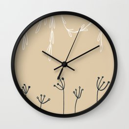 Wreathe & Flowers Wall Clock
