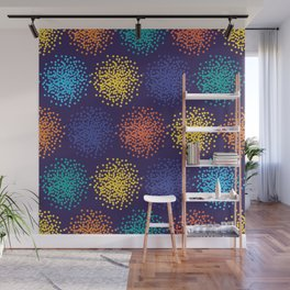Abstract colorful dotted background Wall Mural