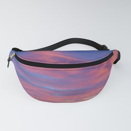 Pink Cotton Candy Sunset Fanny Pack
