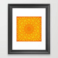 Yellow Earth Mandala Framed Art Print