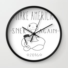 Make America Snek Again Wall Clock