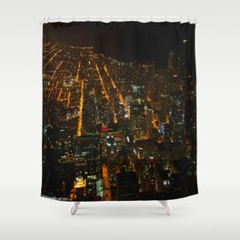 Looking Down on Downtown #1 (Chicago Architecture Collection) Shower Curtain