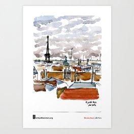 "Nicolas Kern, ""Vue de chez moi"" Art Print"