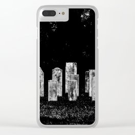 Tombstone Rows Clear iPhone Case