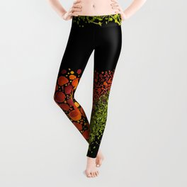 Paths of Color [Red, Orange and Green] Leggings