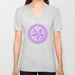 Sebastian Michaelis Sigil Light (black bg) Unisex V-Neck