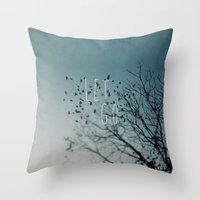 let it go Throw Pillows featuring Let Go by Brandy Coleman Ford