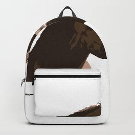 funny horse hello Backpack