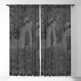 Autumn Memory by Lu, black-and-white Blackout Curtain