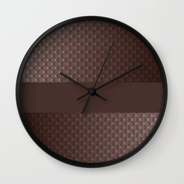 Brown mother of pearl Wall Clock