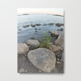 Ilmen Green On The Shore Metal Print