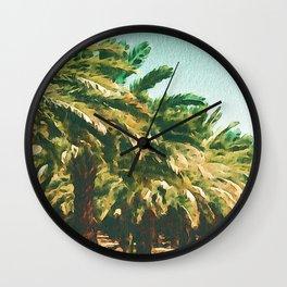 Coconut Tree Lineup Wall Clock