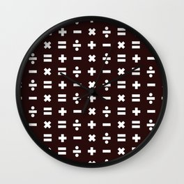 Math Pattern Wall Clock
