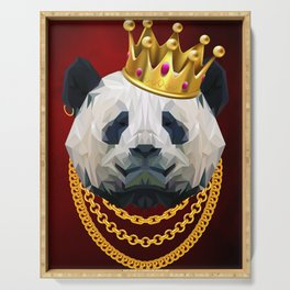 The King of Pandas Serving Tray