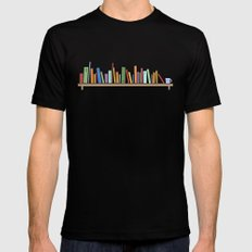 Books Black LARGE Mens Fitted Tee