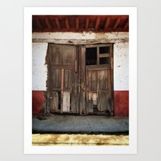 Collapsed Eronga Door Art Print