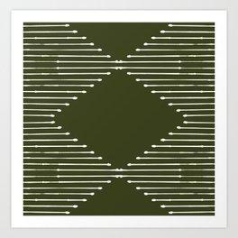 Geo (Olive Green) Art Print
