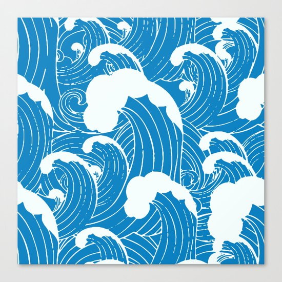 waves after waves Canvas Print