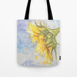 Helianthus annuus: Sunflower Abstraction Tote Bag
