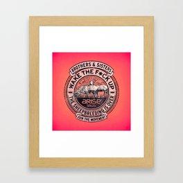 the awaken sheep (variant) Framed Art Print